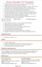 Expert Witness Resume Example by Claims Handler Cv Template Tips And Download U2013 Cv Plaza