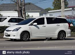 toyota wish chiang mai thailand january 16 2017 private mpv car toyota