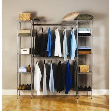 bedroom stunning walk in closet design with gray metal closet