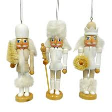 nicholas square faux fur nutcracker christmas ornaments 3 piece set