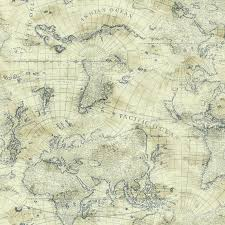 nautical blue world map on cream sure strip wallpaper ny4837 all