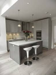 Wall Color Ideas For Kitchen by Stylish And Cool Gray Kitchen Cabinets For Your Home Throughout