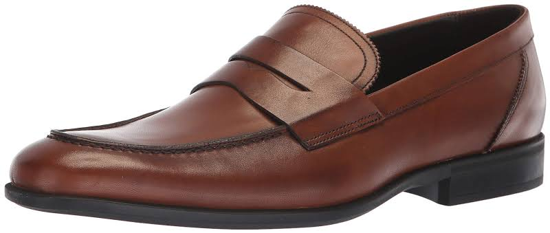 Bruno Magli Fernando BM600605 Brown Leather Dress Slip On Loafers Shoes