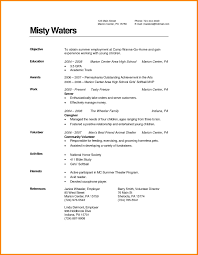 Resume Sample Volunteer by Resume For Degree Free Resume Example And Writing Download