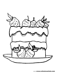 strawberry short cake coloring page create a printout or activity