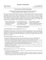 Sample Of Sales Manager Resume by Marketing Manager Resume