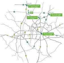 Downtown Dallas Map by Unt At Universities Center At Dallas University Of North Texas