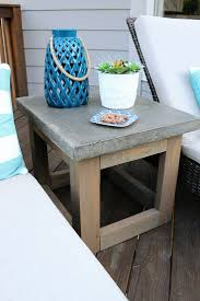 Building Outdoor Wood Furniture by Best 25 Outdoor Side Table Ideas On Pinterest Easy Patio
