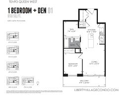 Condominium Floor Plans Ten93 Queen West Pre Construction Condo Liberty Village Condo