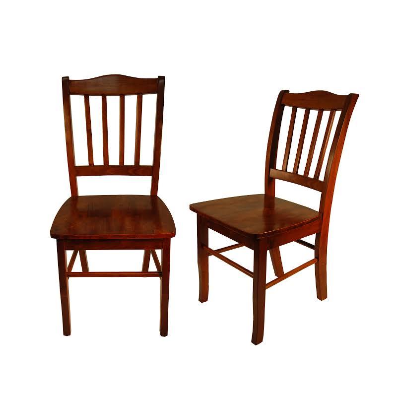 Boraam Shaker Dining Chair In Walnut (set Of 2)