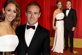 Alan Halsall and Lucy Jo Hudson together at soap awards