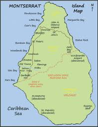 Caribbean Sea On Map by Montserrat Island Location In The Caribbean Sea Islands Miles