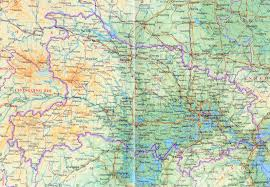 Map Of China Provinces Detailed Hubei Province Map Hubei Road Map Hubei Railway Map