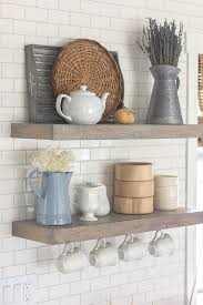 Kitchen Shelving Kitchen Shelf Styling Modern Farmhouse Spring Home Tour From