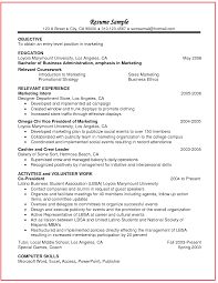 Example Job Resume by Relevant Coursework In Resume Example Http Www Jobresume