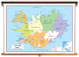 Political Map Europe by Iceland Political Educational Wall Map From Academia Maps