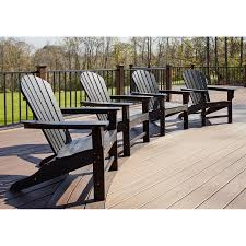 Lowes Patio Furniture Sets by Shop Trex Outdoor Furniture Set Of 4 Cape Cod Charcoal Black