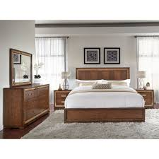 Palliser Alula Chrystelle Wood Panel Bed In Cognac Humble Abode