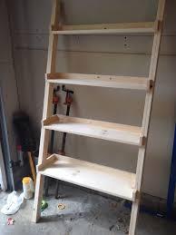diy ladder bookshelf an easy weekend project the suburban urbanist