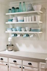 Kitchen Shelving Open Kitchen Shelves Farmhouse Style White Cupboards Open