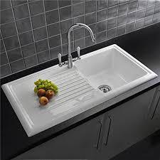 Reginox RLCW  Bowl White Ceramic Reversible Kitchen Sink - Kitchen sink images