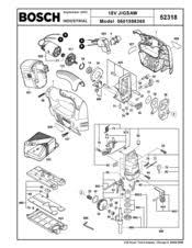 Bosch Table Saw Parts by Bosch 52318b Na Cordless 18v Jigsaw Manuals
