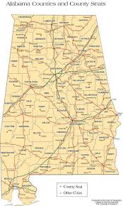 Map Of Cities In Usa by Alabama Counties Road Map Usa