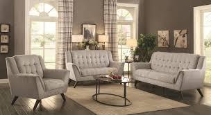 Grey Sofa And Loveseat Set Baby Natalia Sofa In Grey Fabric 511031 By Coaster W Options