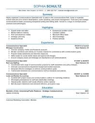 writing an objective on a resume best communications specialist resume example livecareer communications specialist resume example