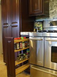 Kitchen Cabinets With Pull Out Shelves by Kitchen Pull Out Spice Rack For Deliver More Goods To You