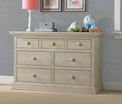 Pine Drawers Cosi Bella Luciano 7 Drawer Double Dresser White Washed Pine