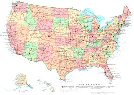 United States And Canada Map by Us Map Outline With Alaska And Hawaii Maps Of Usa Map Of America