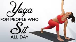 yoga for people who sit all day with jess beginners routine for