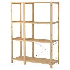 Garage Depth Garage Storage Solutions Ikea With Natural Ivar 2 Sections Shelves