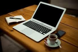 contributor writing laptop