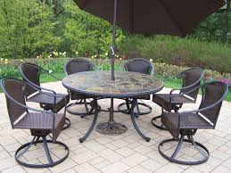Black Wrought Iron Patio Furniture Sets by Furniture Art Stone Outdoor Top Table With Black Iron Chair Using