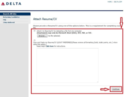 Resume Application For Job by How To Apply For Delta Airlines Jobs Online At Delta Com Careers