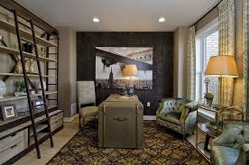 Open Home Office Contemporary Home Office With Built In Bookshelf U0026 Interior