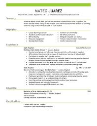 Esl Teacher Resume Samples  teaching experience cv cv teaching     resume math teacher   Template   piano teacher resume