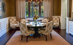 Wonderful Traditional Dining Room Design And Detailrich Colonial - Traditional dining room ideas