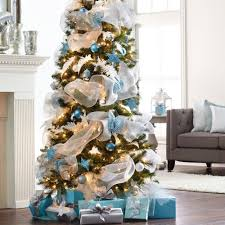 try something unique this season with wintry mesh tree decor and