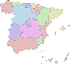 Spanish Speaking Countries Blank Map Quiz by Autonomous Communities Of Spain Wikipedia