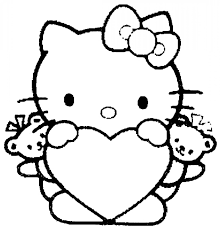 coloring pages for kids to print out hello kitty hello kitty heart