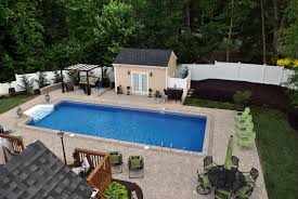 Tiny Pool House Plans Brown Deck In Ground Patio Pools That Can Be Decor With Some Stone