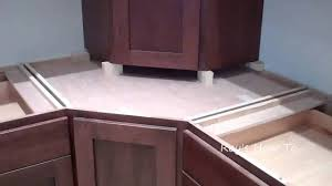 Installing Kitchen Cabinets Diy by Installing Kitchen Cabinets With Appliance Garage Youtube