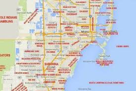 Chicago On The Map by This Judgy Miami Map Will Offend Pretty Much Everyone Curbed Miami