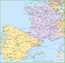Spain Political Map by France Maps Maps Of France
