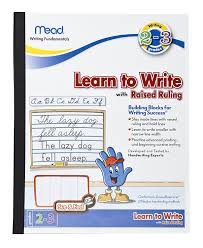 paper for writing amazon com mead see feel learn to write tablet with raised amazon com mead see feel learn to write tablet with raised ruling grades 2 3 8 x 10 inches 48556 classroom practice paper office products