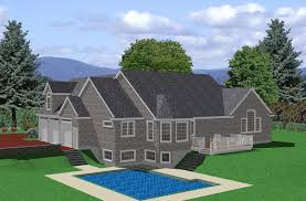 Rancher Style Homes Ranch House Plan Sloped Lot Traditional Architecture Plans 81132