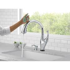 touchless kitchen faucets 19 u2013 beckon the new touchless addison touchless single handle standard kitchen faucet with soap dispenser